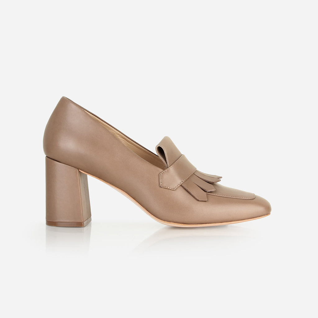 The Heeled Loafer Mocha