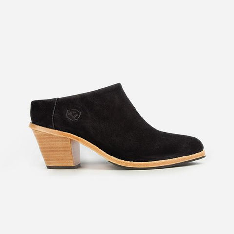 The Heeled Mule Black Nubuck Made To Order