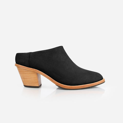 The Heeled Mule Black Nubuck Ready To Wear