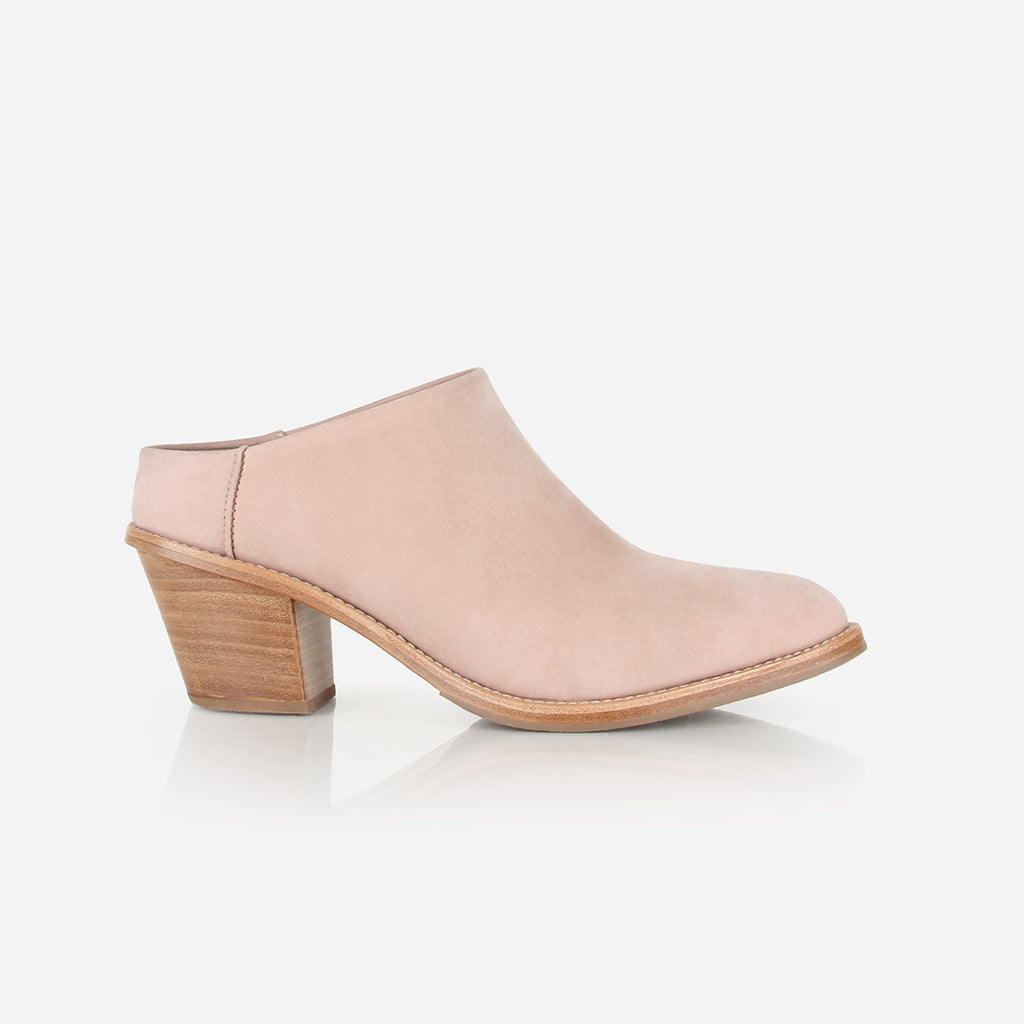 The Heeled Mule Blush Nubuck Ready To Wear
