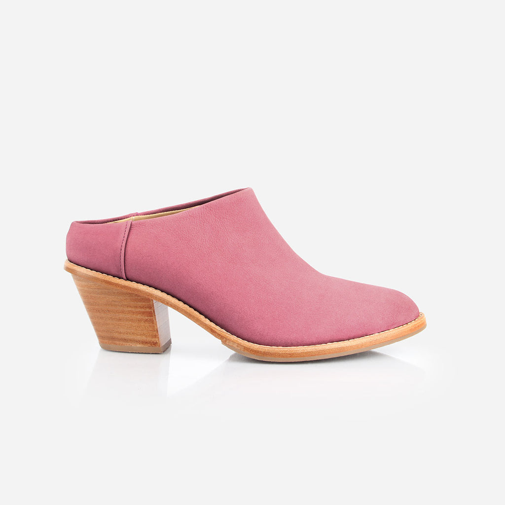 The Heeled Mule Cherry Blossom Nubuck Made To Order