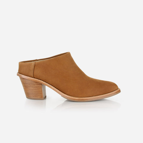 The Heeled Mule Desert Tan Nubuck Made To Order