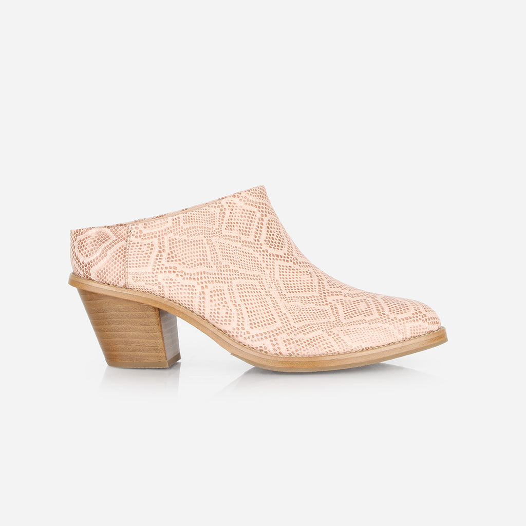 The Heeled Mule Pink Snake Ready To Wear