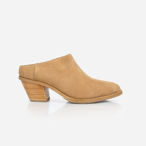 The Heeled Mule Sand Nubuck Made To Order