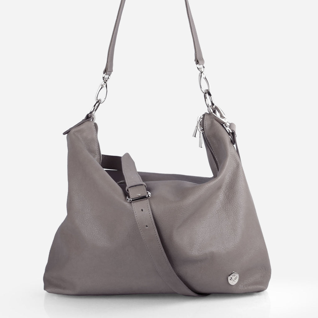 The Hobo Tote Slate Grey Pebble