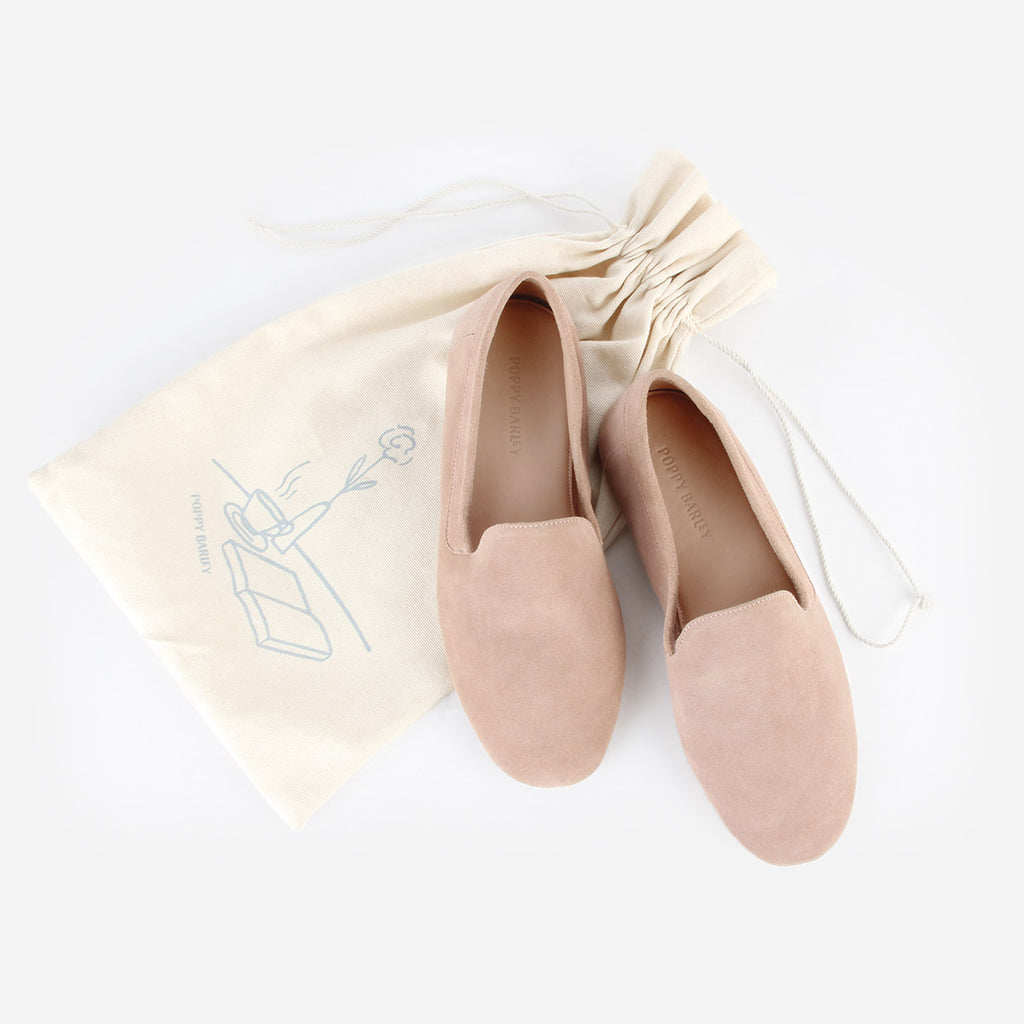 The House Shoe Blush Suede Ready To Wear