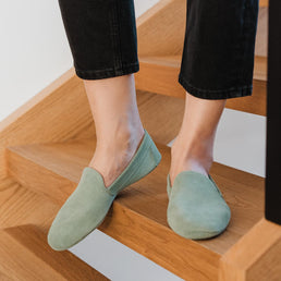 The House Shoe Seaglass Suede Ready To Wear