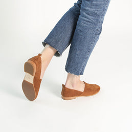 The At-Leisure Slip-On Desert Tan Nubuck Ready To Wear