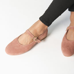 The Modern-Day Mary Jane Dusty Rose Nubuck Ready To Wear