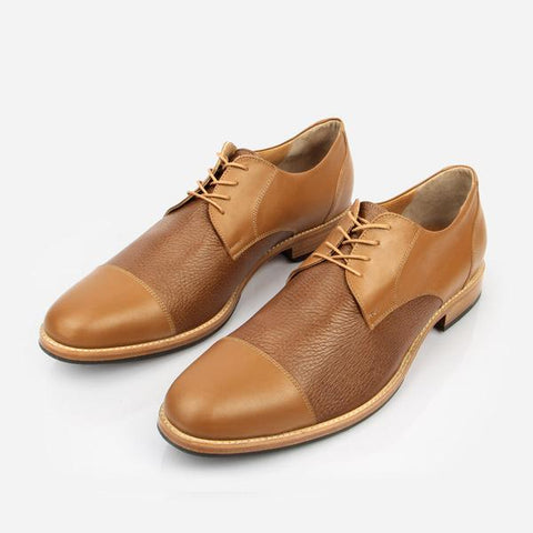 The Jasper Derby Tan Calf and Tan Deer Made To Order