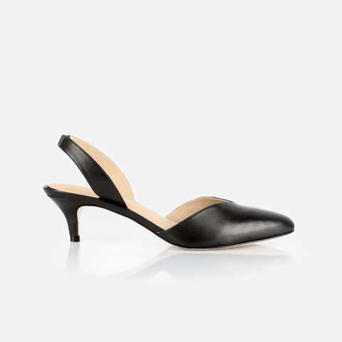 The Kitten Heel Slingback Black