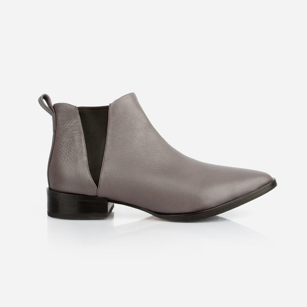 The Low-Rise Chelsea Boot Slate Grey Pebble Made to Order