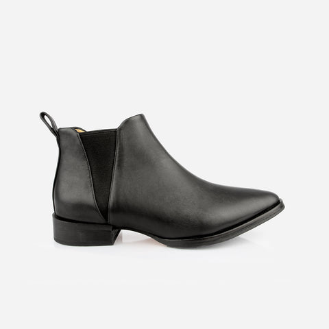 The Low-Rise Chelsea Boot Black Water Resistant Made to Order