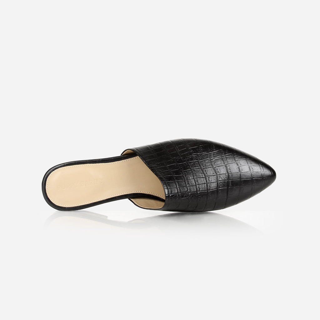 The Market Mule Black Croc Ready To Wear