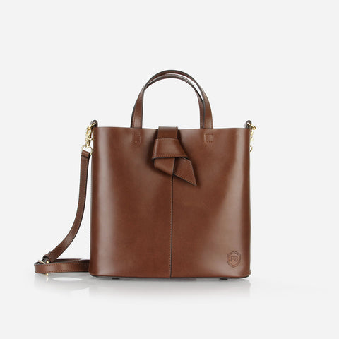 The Mini Knot Tote Belgian Brown