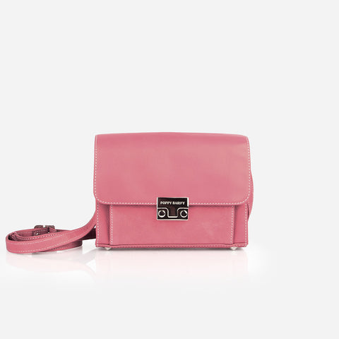 The Mini Shoulder Satchel Cherry Blossom Pebble/Nubuck