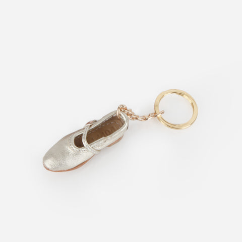 Manuel Mini Shoe Keychain - Mary Jane - 24k
