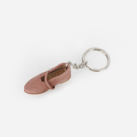 Manuel Mini Shoe Keychain - Mary Jane - Dusty Rose