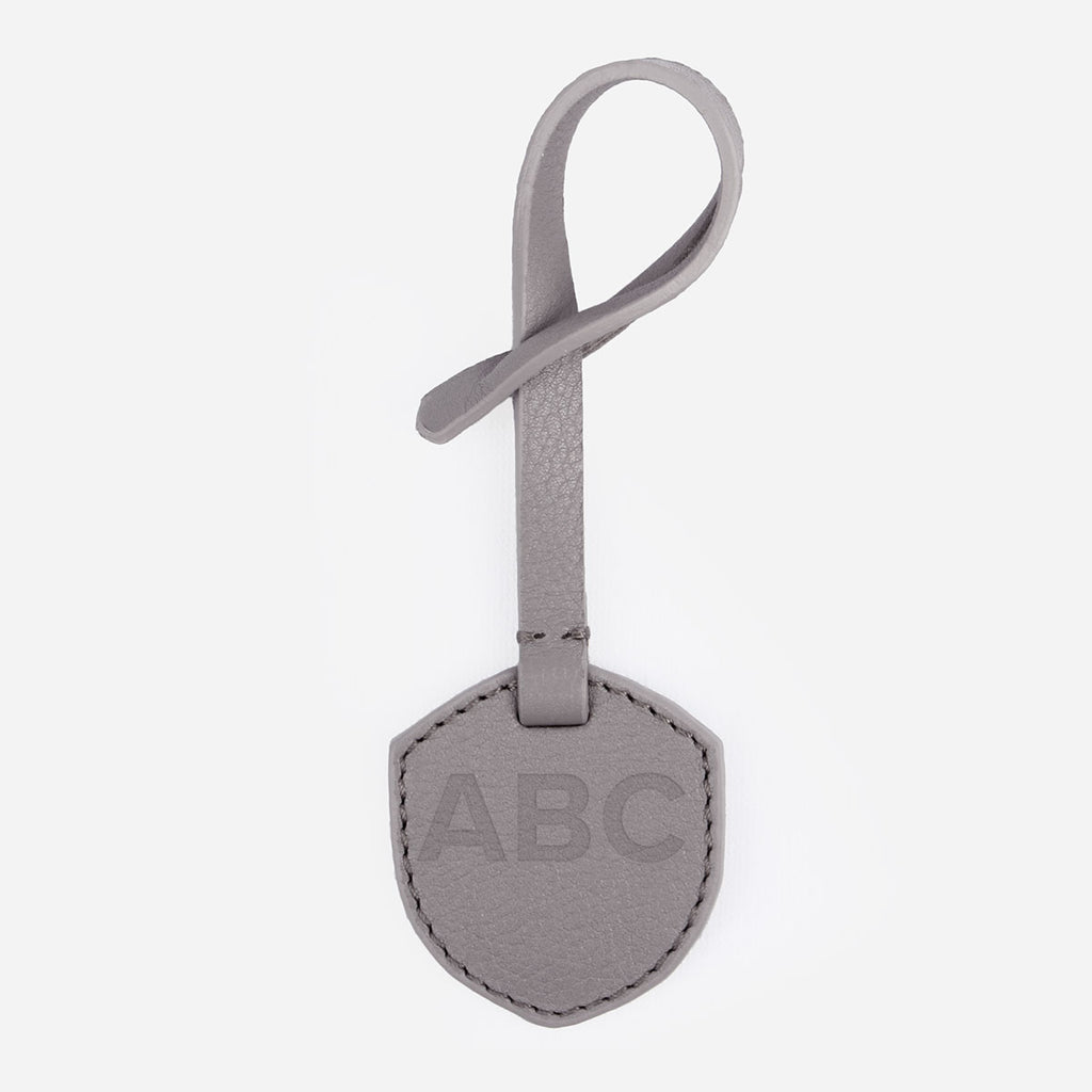 The Monogram Tag Slate Grey Pebble