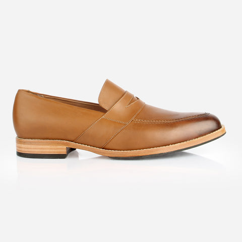 The Montreal Loafer - light brown two toned leather mens loafer - Poppy Barley