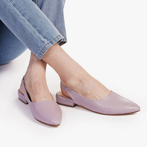 The On-The-Ball Slingback Lilac Lizard Ready To Wear