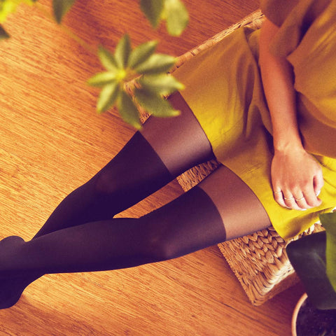 Rachel Over-The-Knee Tights Black