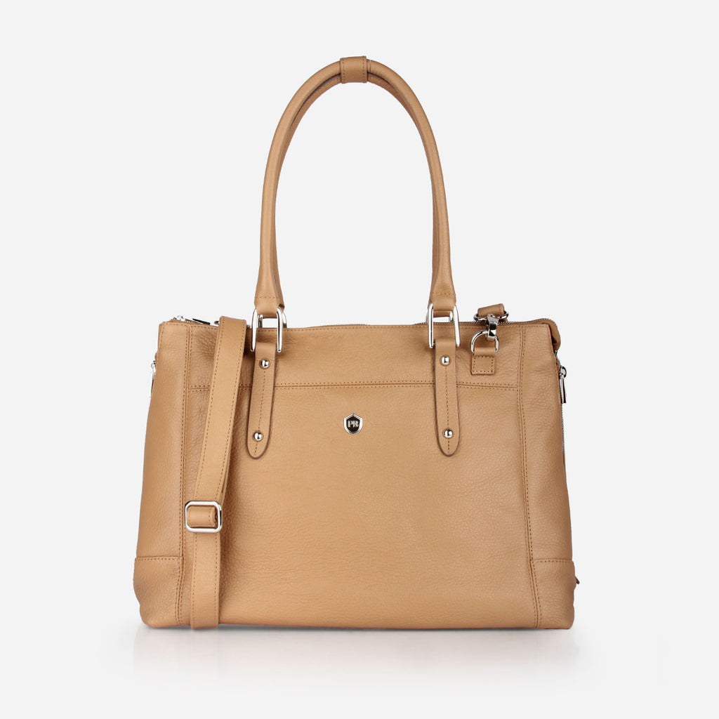 The perfect handbag - large leather shoulder bag that holds a laptop - Poppy Barley