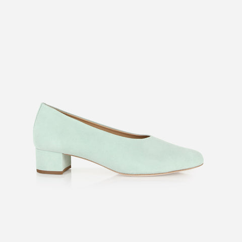 The Petite Pump Mint Suede Ready To Wear