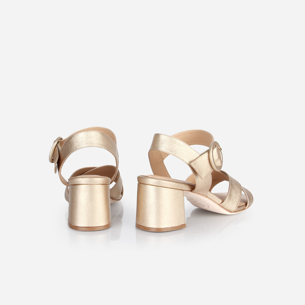 The RSVP Heeled Sandal Champagne Ready To Wear