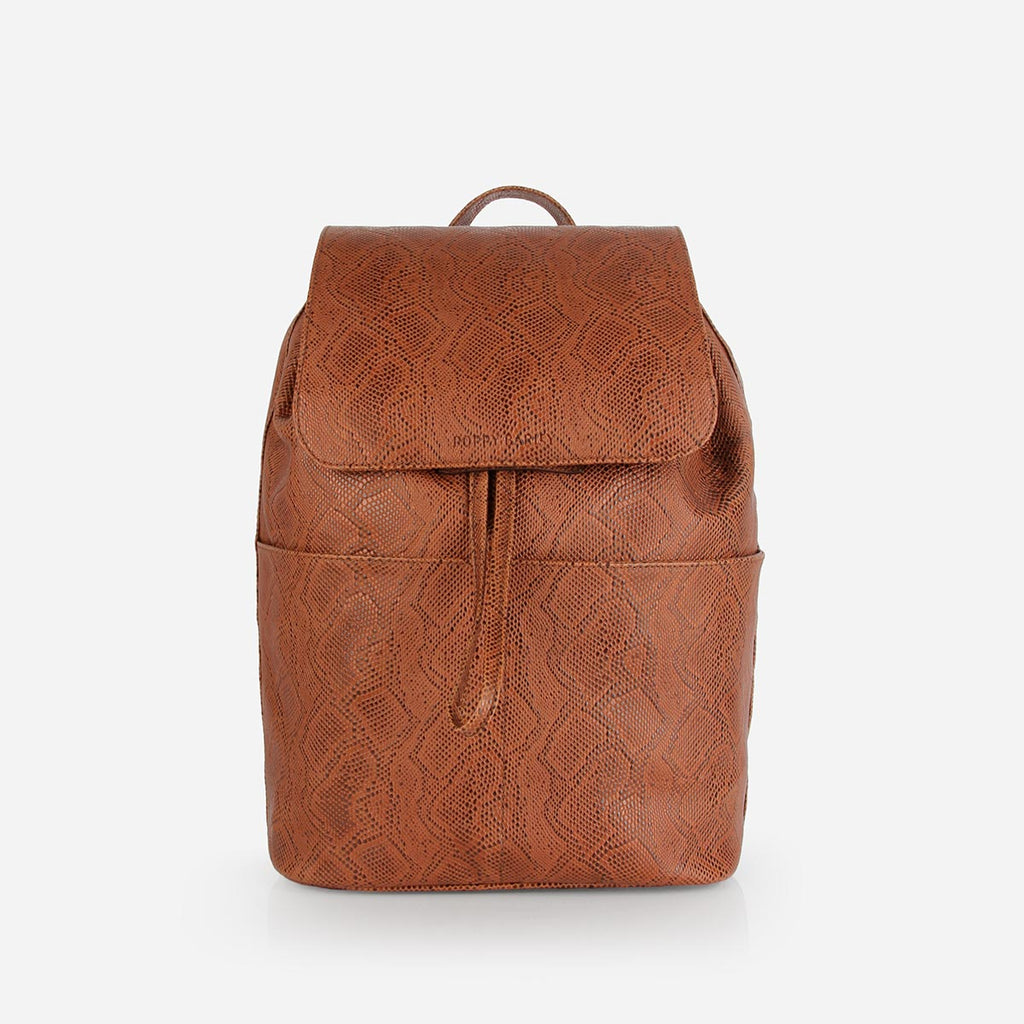 The Refined Backpack Brown Snake
