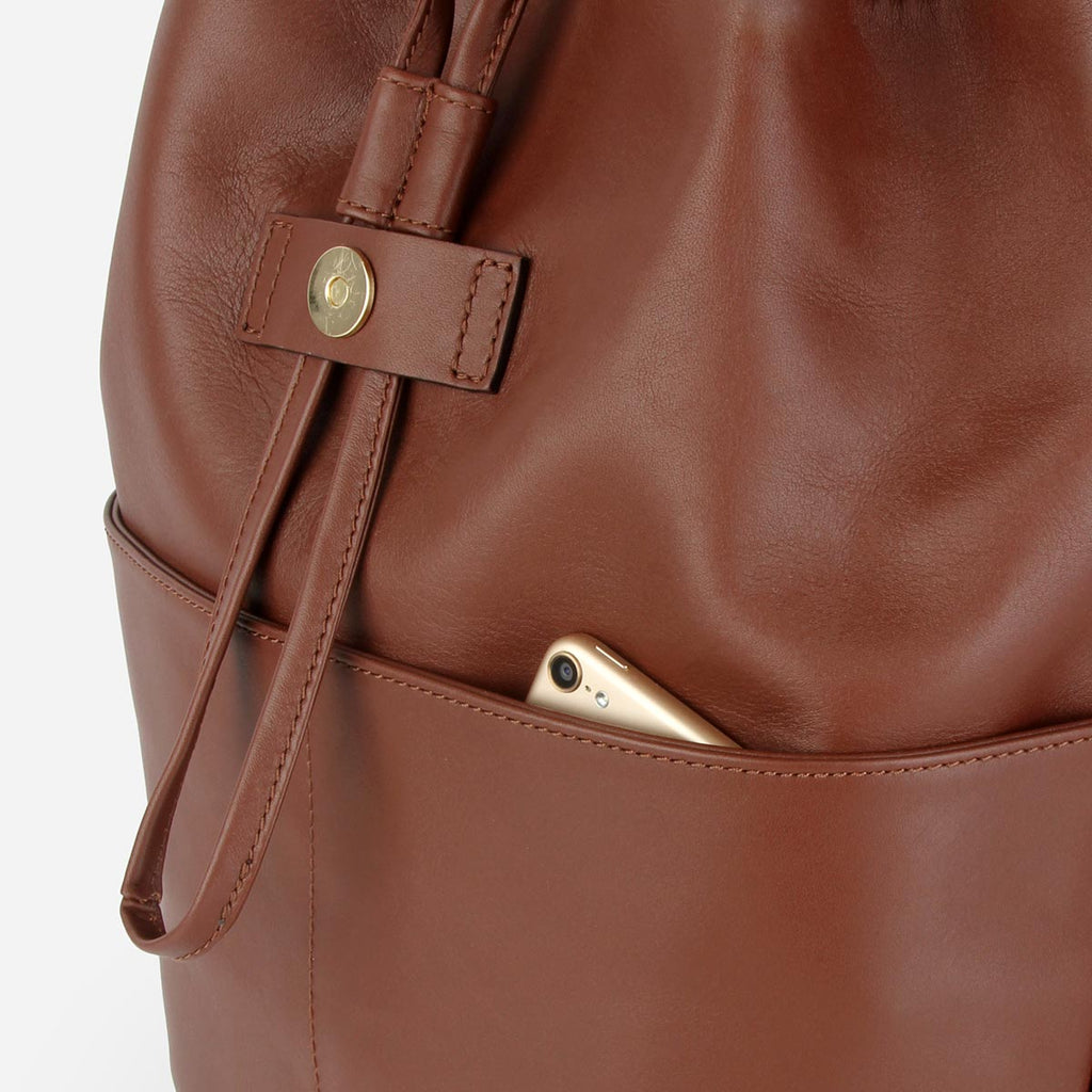 The Refined Backpack Danish Brown Water Resistant