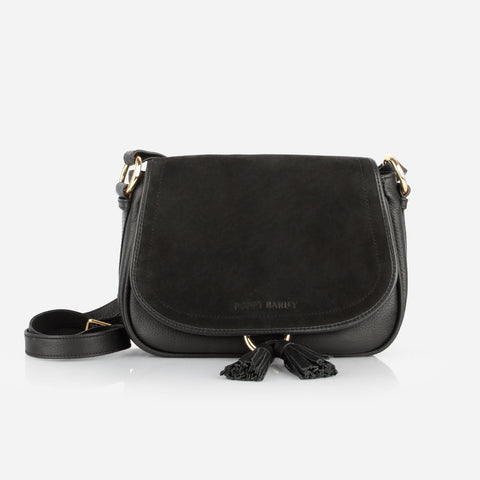 The Saddle Bag Black / Black Nubuck