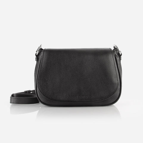 The Refined Saddle Bag Black Pebble