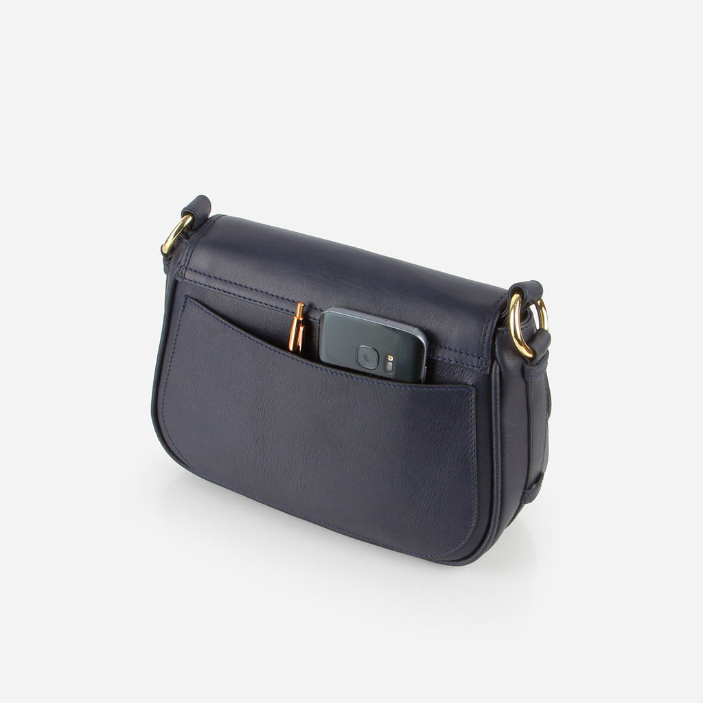 The Refined Saddle Bag Navy