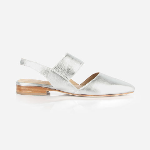 The Slingback Mary Jane Silver Made To Order