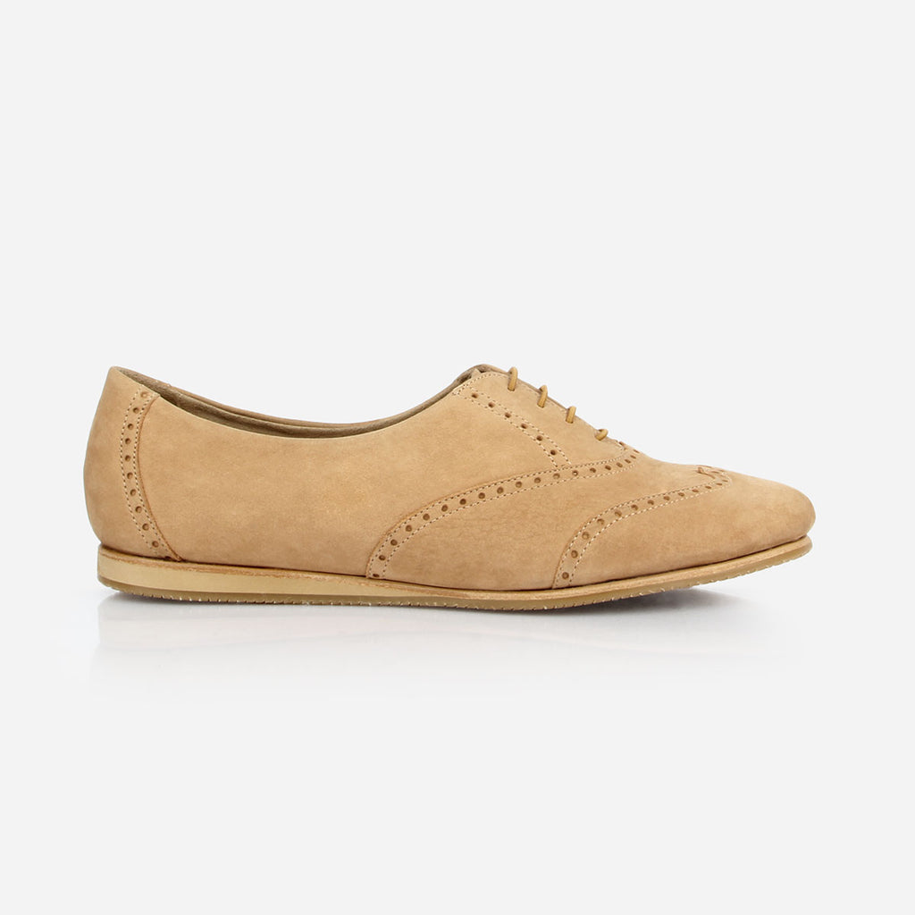 The Soft Oxford - tan leather womens oxford round toe - Poppy Barley