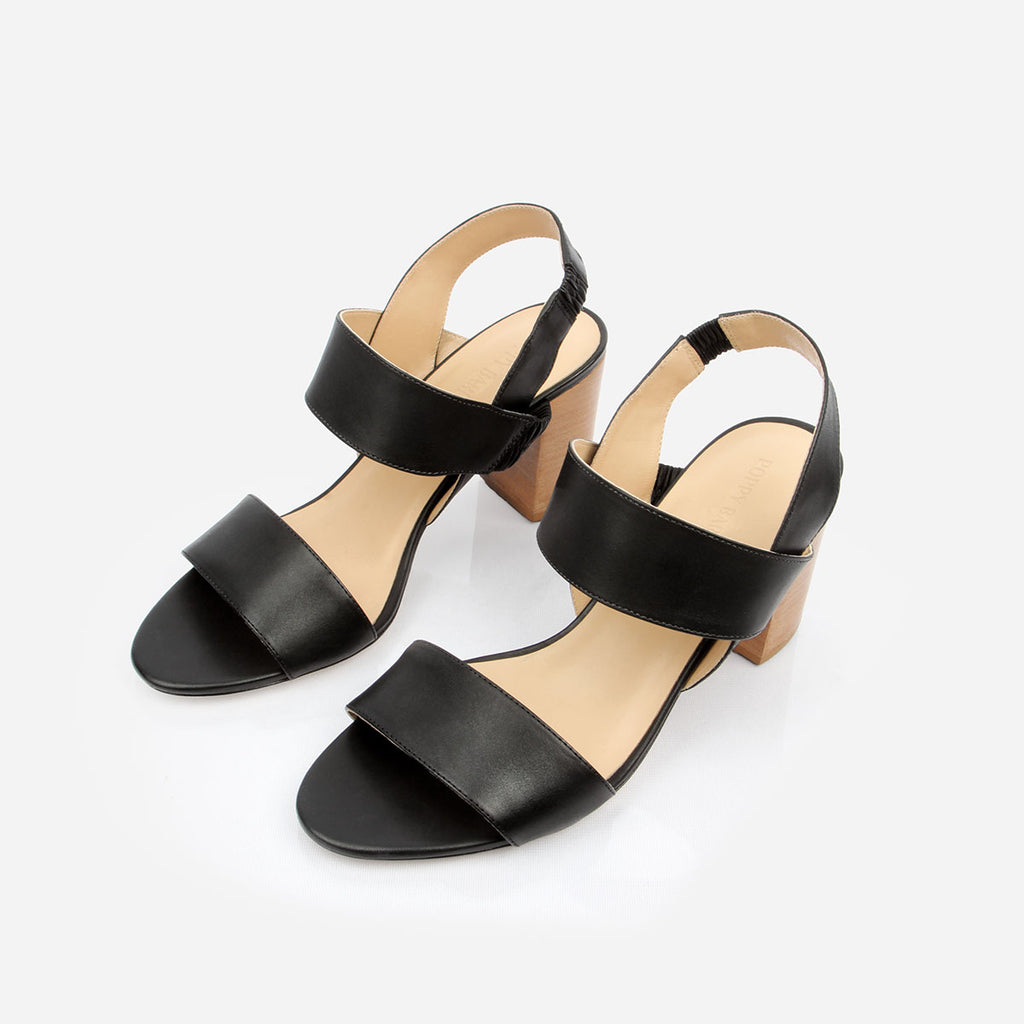 The Summerland Heeled Sandal Black Ready To Wear
