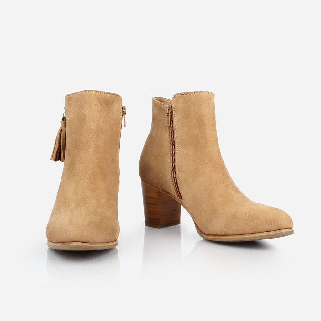 The Tassel Bootie Sand Nubuck Ready To Wear