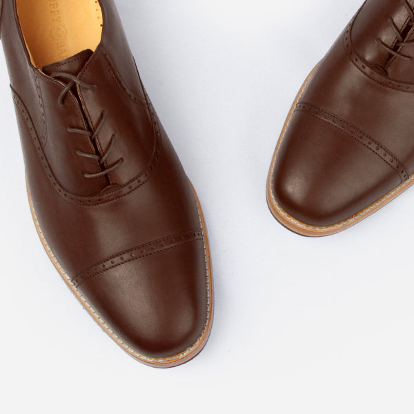 The Toronto Brogue - brown leather brogue mens custom dress shoes - Poppy Barley
