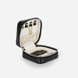 The Travel Jewelry Case Black Croc