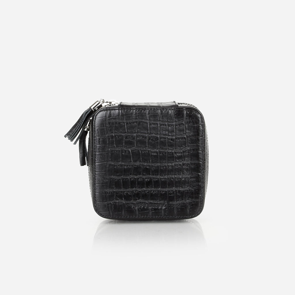 The Jewelry Case Black Croc