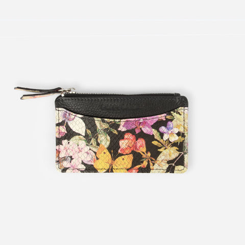 The Travel Zip Wallet Midnight Bloom - Poppy Barley