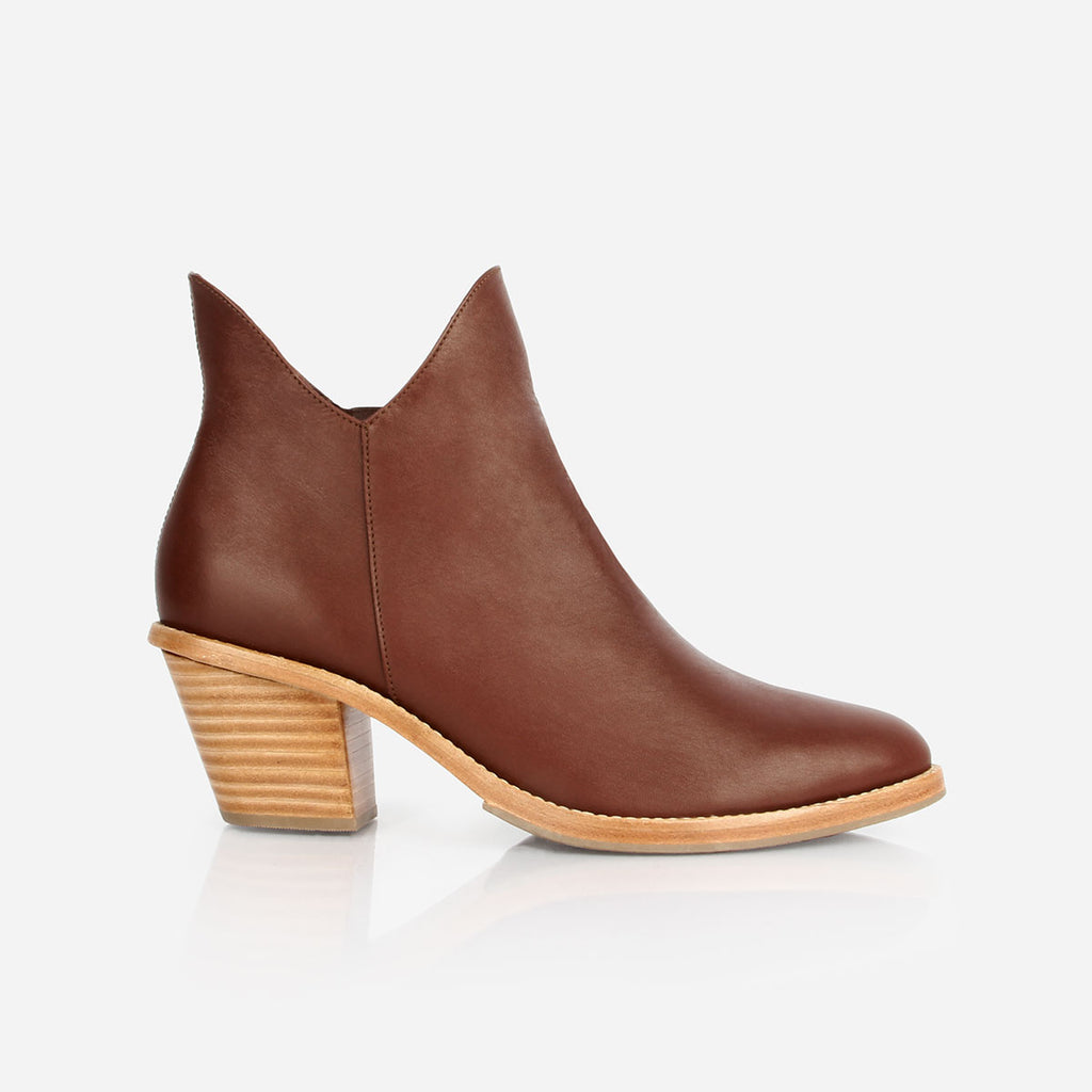 The Two Point Five Ankle Boot Chestnut Made To Order