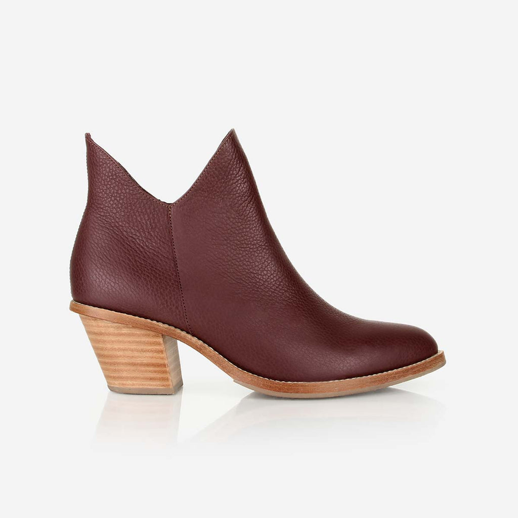 The Two Point Five Ankle Boot Chocolate Wine Ready To Wear