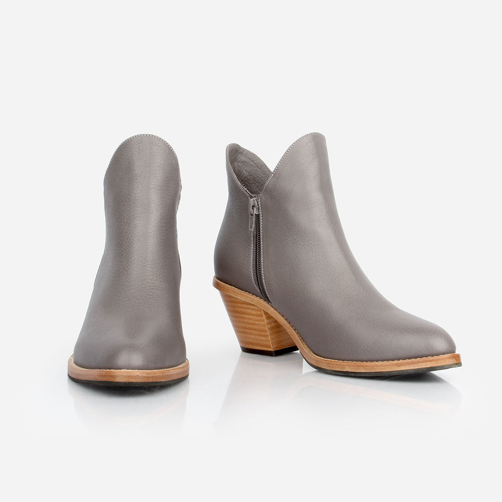 The Two Point Five -  grey leather 2.5 inch womens heel - Poppy Barley