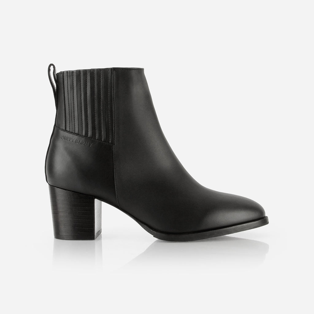 The Uptown Heeled Chelsea Boot Black Water Resistant Ready to Wear