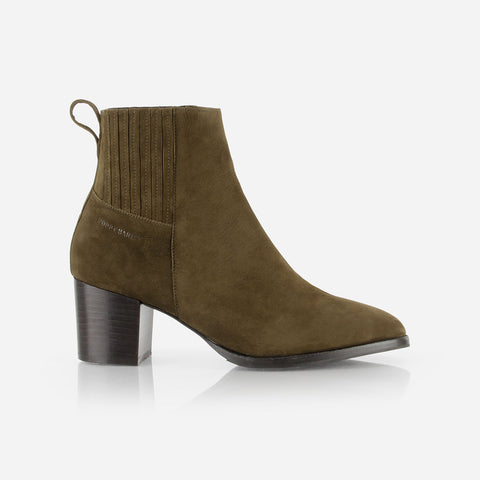 The Uptown Heeled Chelsea Boot Olive Green Nubuck Ready To Wear