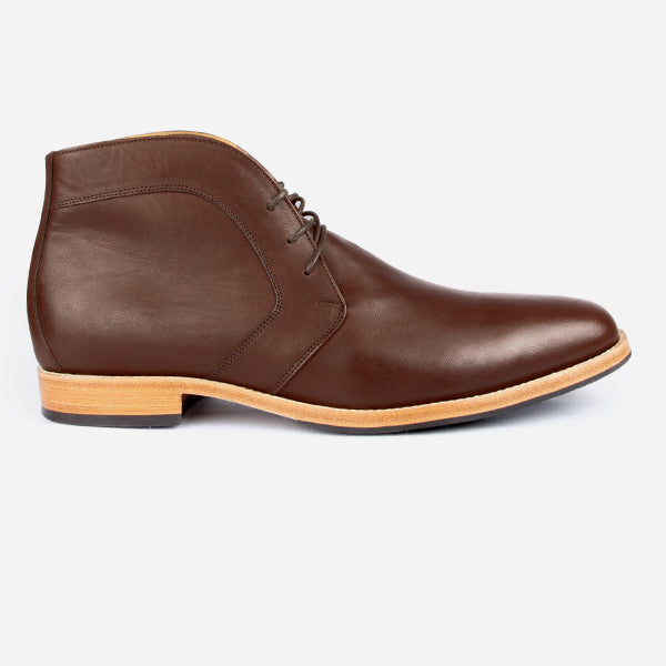 The Vancouver Chukka - brown calf leather chukka boots with natural sole - Poppy Barley