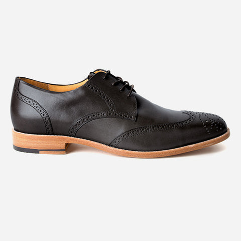 The Calgary Wingtip Black - Poppy Barley