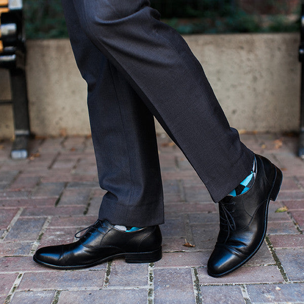 The Edmonton Oxford - mens black leather dress shoes oxfords - Poppy Barley